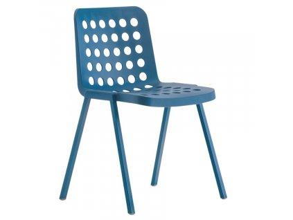 Modrá plastová židle Koi-Booki 370