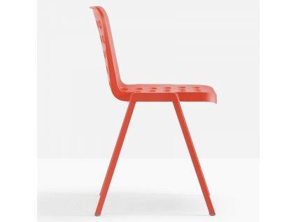 Červená plastová židle Koi-Booki 370