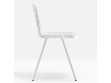 Bílá plastová jídelní židle Koi-Booki 370