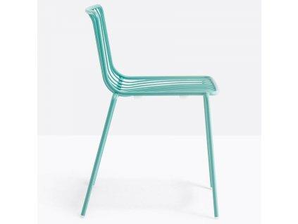 Tyrkysová kovová židle Nolita 3650