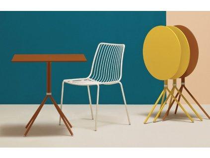 Žlutá kovová jídelní židle Nolita 3650