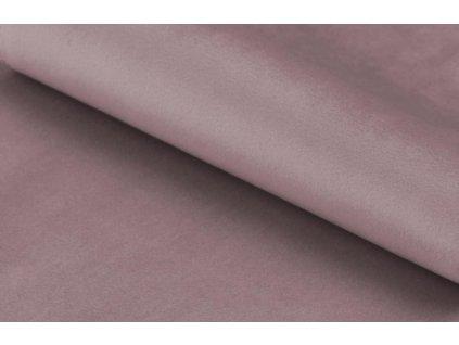 Světle růžová sametová rohová pohovka Puri
