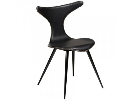 Černá koženková vintage židle DanForm Dolphin