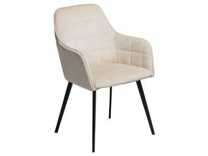 Béžová sametová židle DanForm Embrace