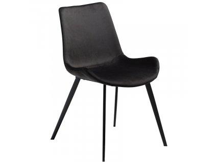 Antracitová sametová jídelní židle DanForm Hype