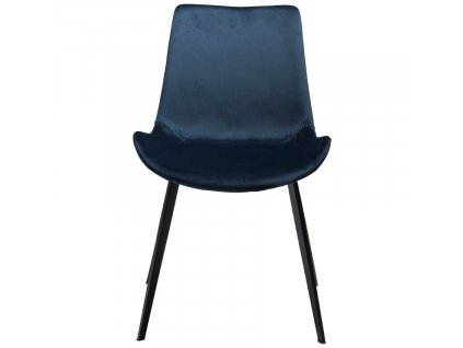 Modrá sametová židle DanForm Hype
