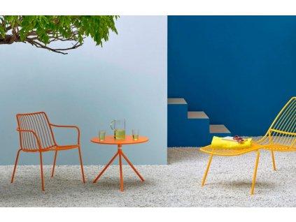 Tyrkysová kovová jídelní židle Nolita 3656 s područkami