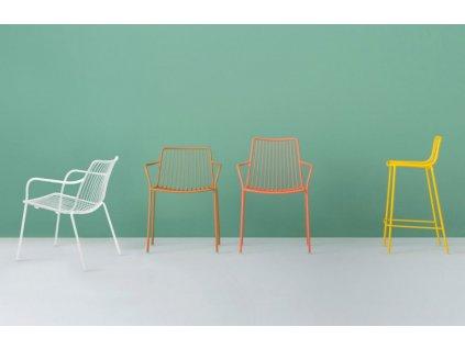 Tyrkysová kovová židle Nolita 3656 s područkami
