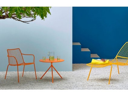 Cihlová kovová židle Nolita 3656 s područkami