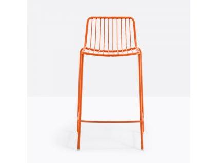 Cihlová kovová barová židle Nolita 3657 65 cm