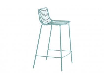 Tyrkysová kovová barová židle Nolita 3657 65 cm