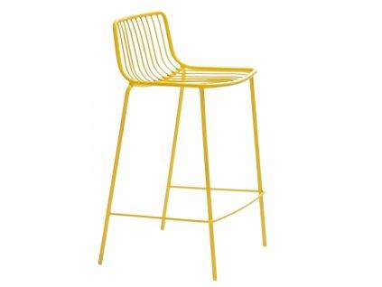 Žlutá kovová barová židle Nolita 3657 65 cm