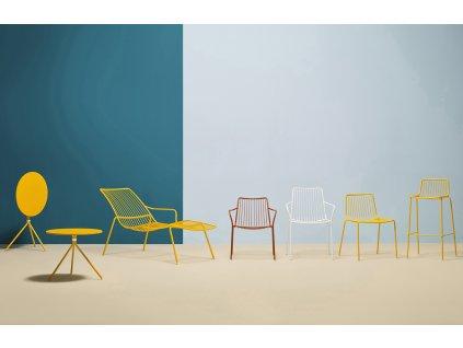 Žlutá kovová barová židle Nolita 3657