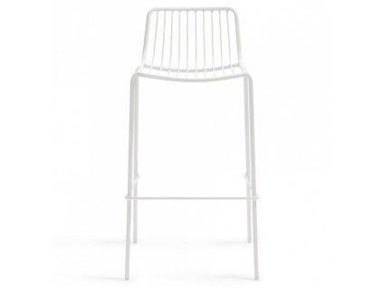 Bílá kovová barová židle Nolita 3658 75 cm