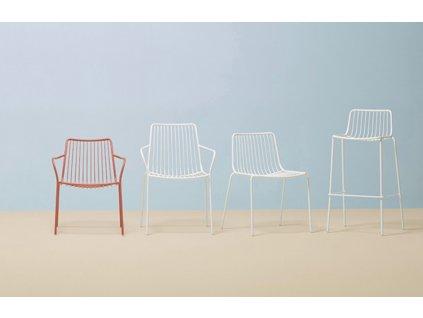 Bílá kovová barová židle Nolita 3658