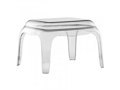 Transparentní plastová stolička Pasha 661 41 cm