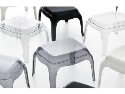 Transparentní plastová stolička Pasha 661