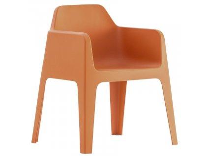 Cihlová plastová jídelní židle Plus 630
