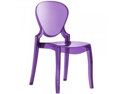 Fialová plastová jídelní židle Queen 650