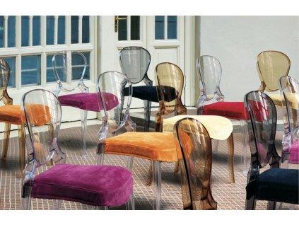Fialová plastová židle Queen 650