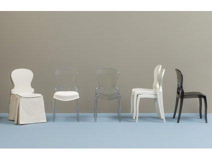 Černá plastová židle Queen 650
