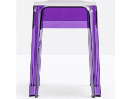 Fialová plastová stolička Rubik 583 45 cm