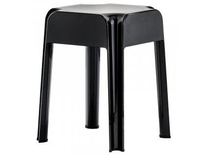 Černá plastová stolička Rubik 583 45 cm