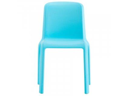 Dětská modrá plastová židle Snow 303