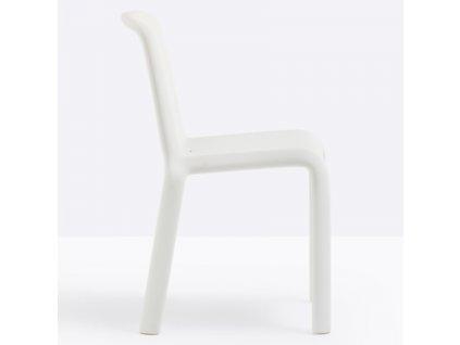 Dětská bílá plastová židle Snow 303