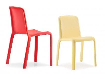 Dětská žlutá plastová židle Snow 303