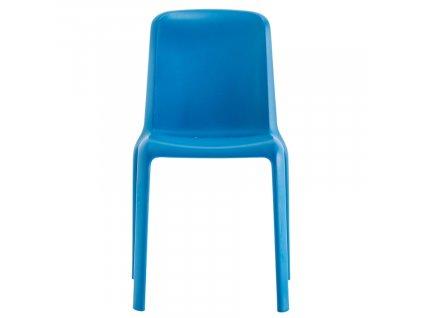 Modrá plastová jídelní židle Snow 300