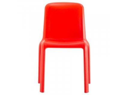 Dětská červená plastová židle Snow 303
