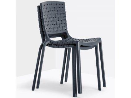 Hnědá plastová jídelní židle Tatami 305