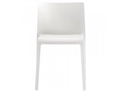 Bílá plastová jídelní židle Volt 670