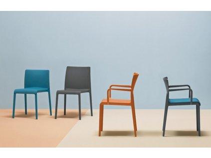 Šedá plastová židle Volt 675