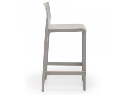 Šedá plastová barová židle Volt 677 66 cm