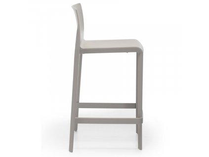 Šedá plastová barová židle Volt 677