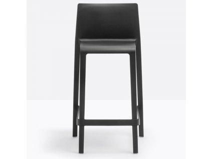 Černá plastová barová židle Volt 677