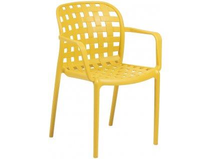 Žlutá zahradní plastová židle LaForma Onha