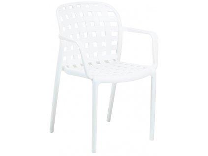 Bílá zahradní plastová židle LaForma Onha