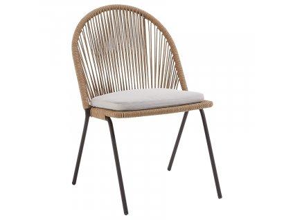 Béžová židle s výpletem LaForma Stad