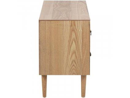 Dřevěná komoda Emer 55 cm, dýhovaná MDF deska, topolové dřevo, odstíny hnědé barvy