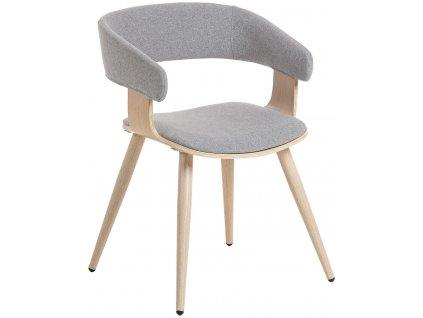 Světle šedá židle s čalouněním LaForma Heiman