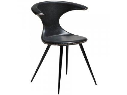 Černá koženková vintage jídelní židle DanForm Flair