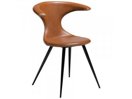 Hnědá koženková vintage jídelní židle DanForm Flair