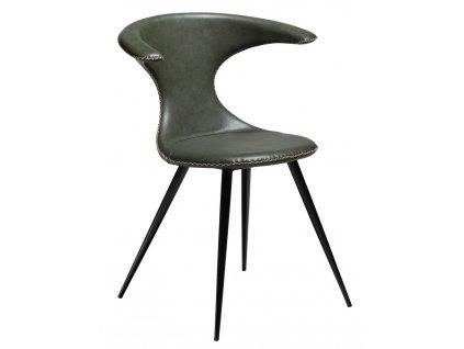 Zelená čalouněná židle DanForm Flair