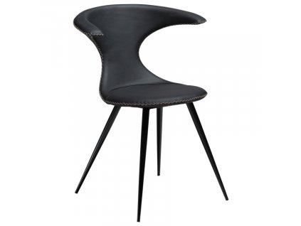 Černá kožená židle DanForm Flair