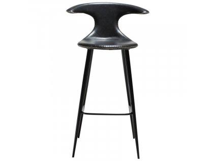 Barová židle DanForm Flair, ekokůže, černá vintage, 101 cm