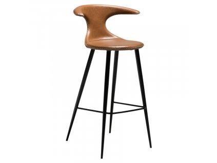Hnědá koženková barová židle DAN-FORM Flair, 101 cm