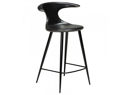Barová židle DanForm Flair 90 cm, ekokůže, vintage černá
